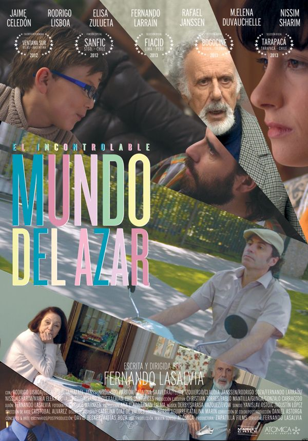 EL INCONTROLABLE MUNDO AL AZAR / Gráficas Cine Chileno by Mateo Gajardo, via Behance