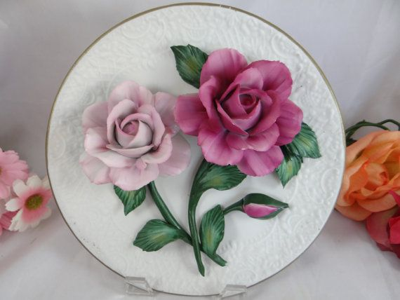 Franklin Mint The Silver Lavender Roses