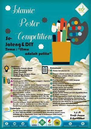 #LombaDesain #DesainPoster #UNNES #Semarang #Eksis #IslamicFair #IslamicPoster #Competition Lomba Desain Poster 2016 Eksis Islamic Fair 1437  DEADLINE: 31 Agustus 2016  http://infosayembara.com/info-lomba.php?judul=lomba-desain-poster-2016-eksis-islamic-fair-1437