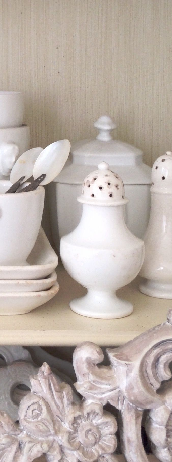 Authentic shaker from France #faience #ironstone #mypetitemaison