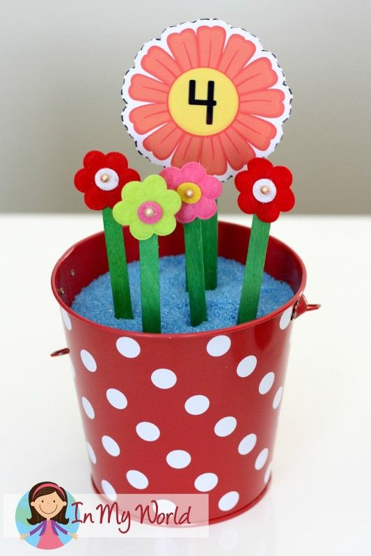 Free printable for counting flowers