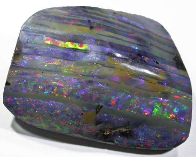 Striped Boulder Opal - Queensland Opal Fields, Australia