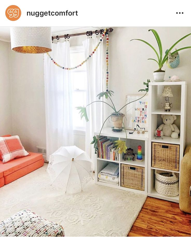 Nugget couch   Homeschool room design, Kid room decor ...