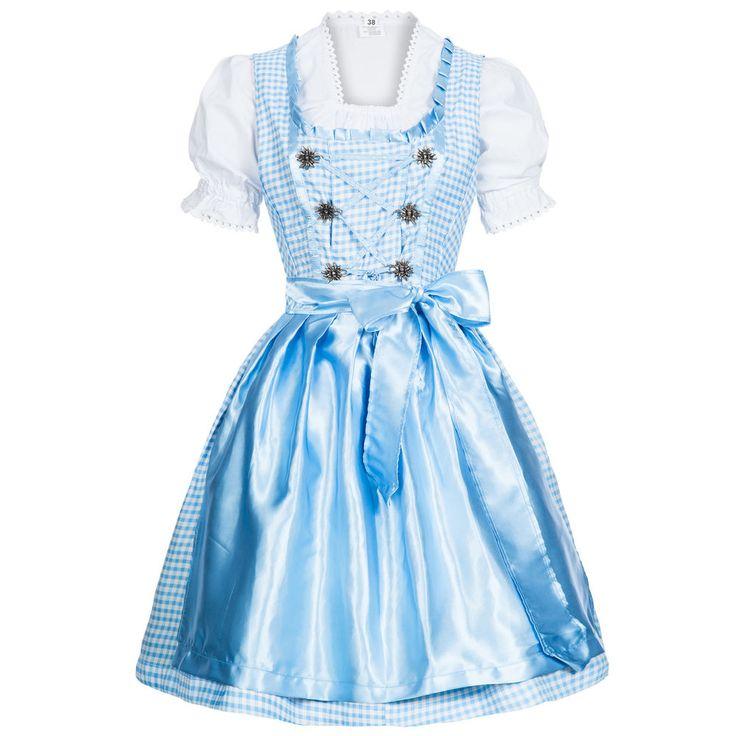 Dirndl Set 3 tlg. hellblau weiss kariert, Bluse, Schürze Gr. 36-46 NEU und OVP in Kleidung & Accessoires, Damenmode, Trachtenmode | eBay