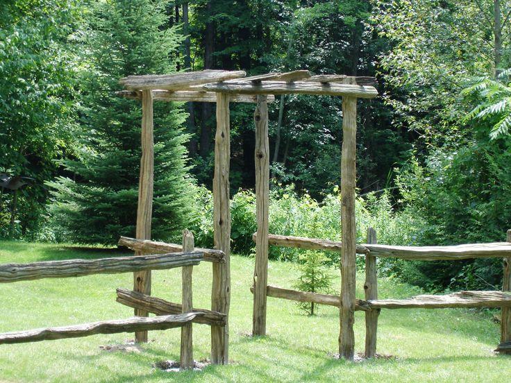 25 best ideas about split rail fence on pinterest rail for Garden fence posts ideas
