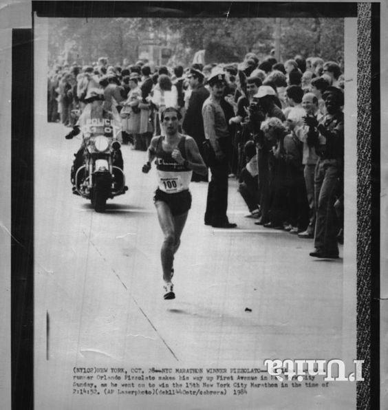 New York City Marathon 1984, 28 ottobre. Orlando Pizzolato (1958) [Archivio Foto L'Unità]