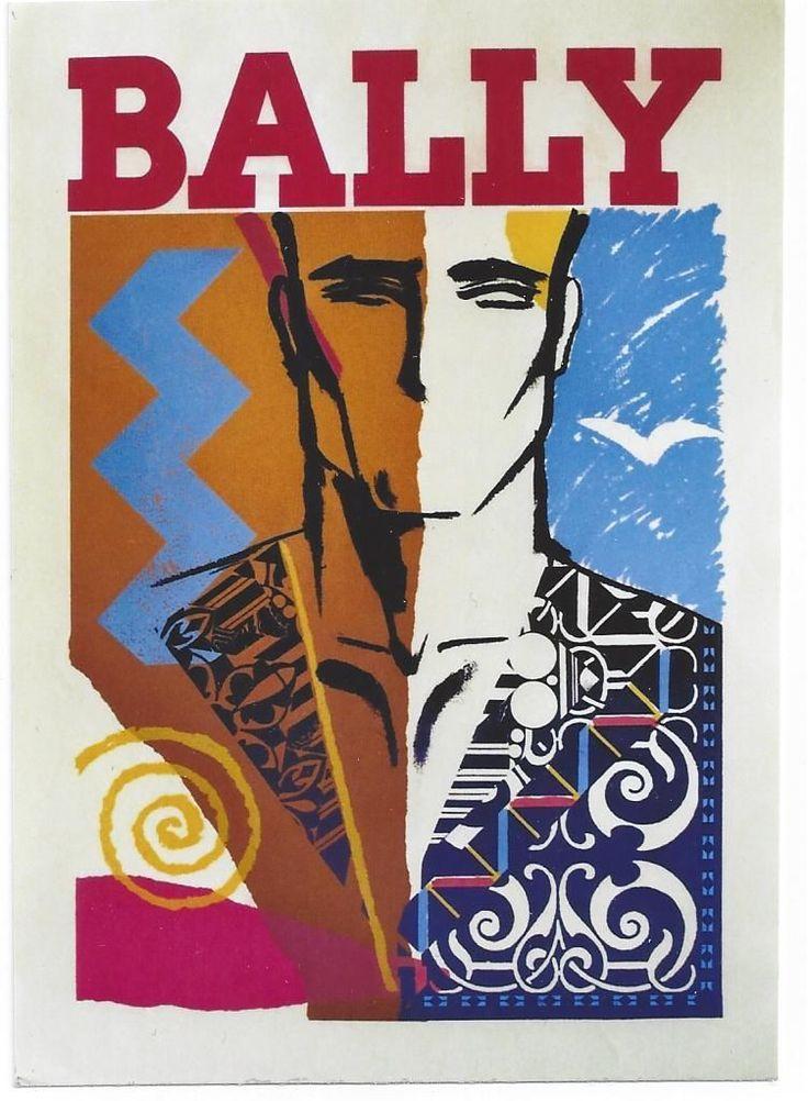 Original vintage poster BALLY MEN'S SHOE FASHION c.1980   eBay