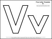 link to letter v template