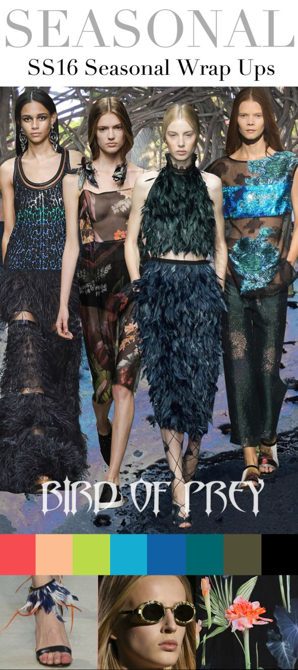 Today's peek at directional theme trends for the Spring Summer 2016 season comes from the Trend Council, a great trend forecasting agency for the fashion industry that provides both analysis and de...