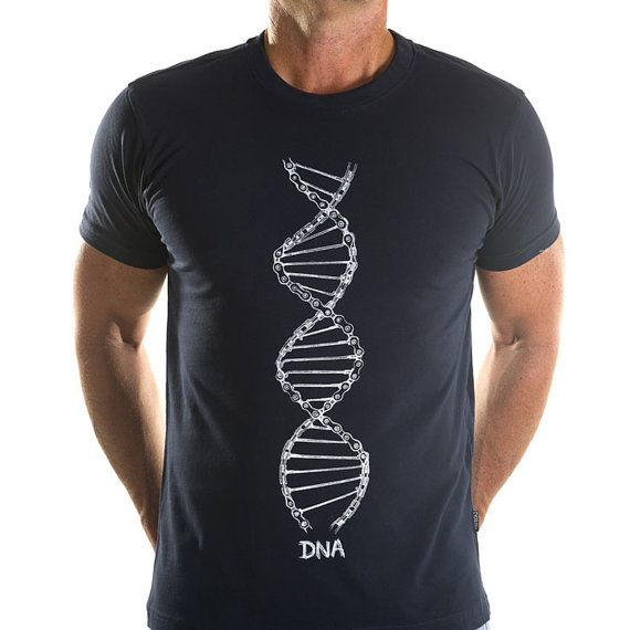Cycling DNA - Men's Cycling Tee Shirt Gifts For Cyclists, and for those who love science!