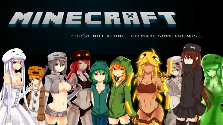 Minecraft Girls Characters HD Wallpaper Cute Pinterest