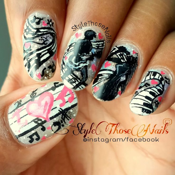 Style Those Nails: I love Music- Musical Theme Nails