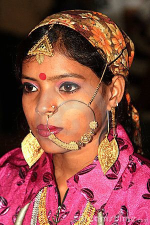 Beautiful portrait shot of indian gujrati girl at art and craft fair helt at chandigarh india.