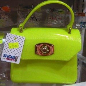 Mini Yellow Sparkly Jelly Handbag
