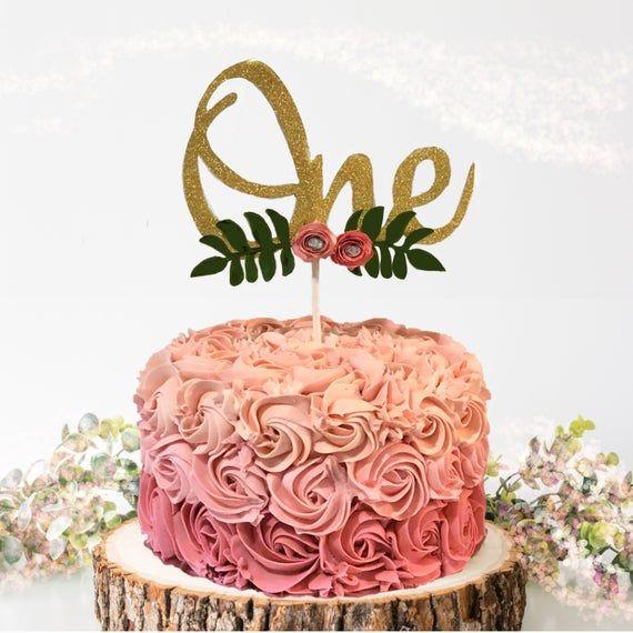 cake smash props Floral cake topper 1st birthday cake topper floral party Birthday cake topper