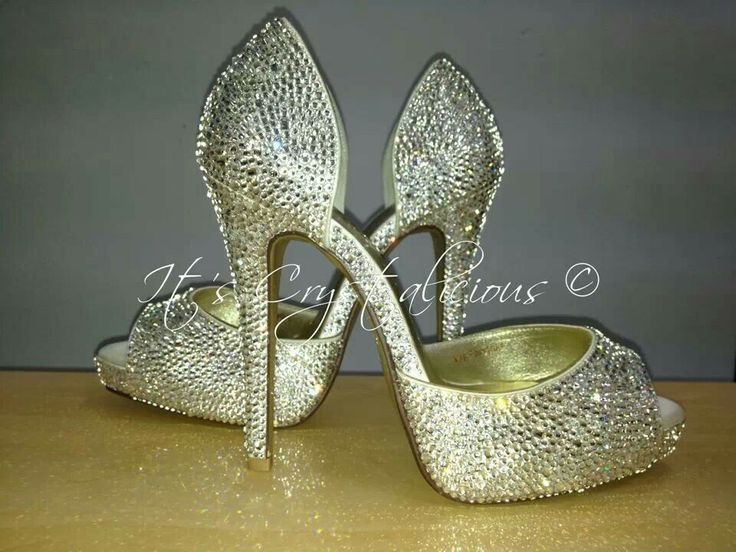 Another very sparkly pair of Crystalicious® Princess Peep toes are on there way back to a very lucky bride for her wedding day, embellished in Genuine SWAROVSKI® ELEMENTS - Crystal.  www.itscrystalicious.com