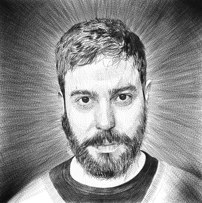 Carlos in dots by Jose Manuel Hortelano-Pi, via Behance