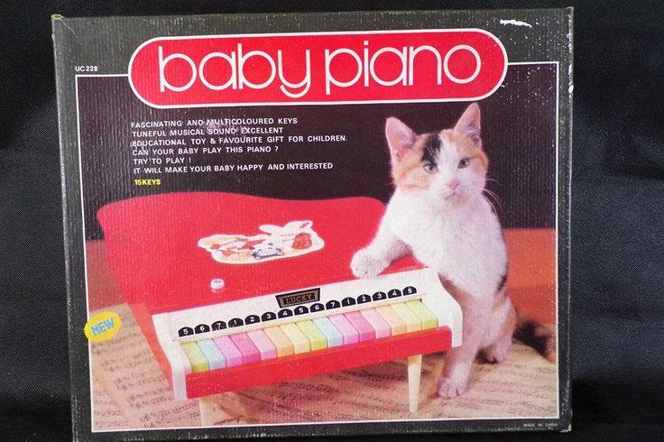 Jouet vintage baby piano lucky en bois neuf en boite jouet éducatif de collection ancien stock de magasin vintage France jouet musical de la boutique decobrock sur Etsy