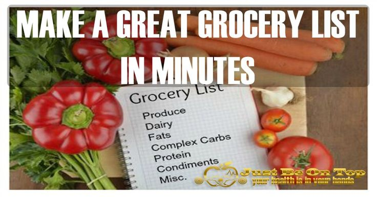 11 TIPS TO MAKE A GREAT GROCERY LIST IN MINUTES