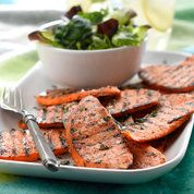 Spiced sweet potato slices recipe