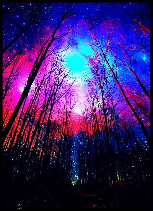 Neon Glowing Sky Forest ☯‿☯ Light Therapy Session