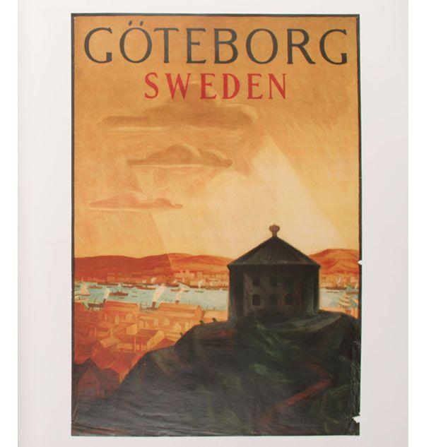 Goteborg, Sweden, Vintage Poster