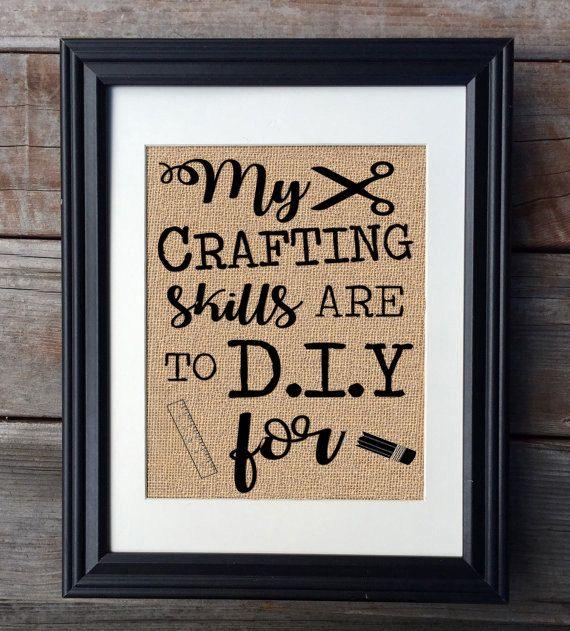 Artist Gift  Craft Lover Burlap Print  Artisan Craft by MilsoMade