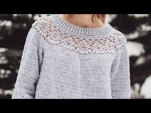 62e83a94a892 كروشية    بلوزه شتوي لأي مقاس How To Crochet Blouse For Any Size ...