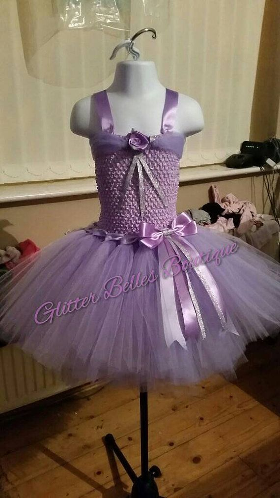 atemberaubende lila Tutu Kleid 0-11 Jahre von GlitterBellesBoutiqu