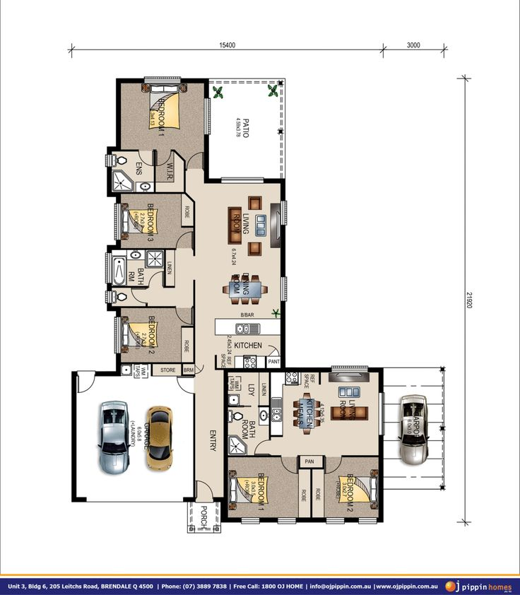 Double Garage Design In Sidcup: Grace 3 With A Dual Occupancy Double Garage Is A Very