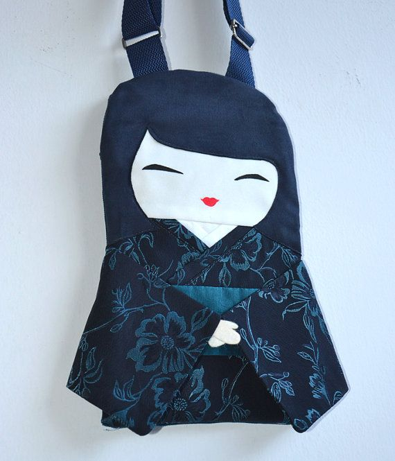 Japanese Doll Handbag Handmade Unique in by NinuMiluBagDolls,