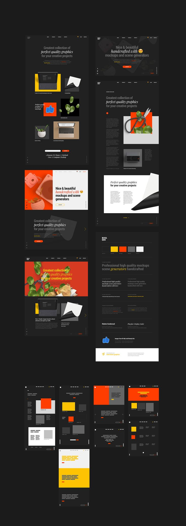 Concept Library for Sketch and Photoshop on Behance