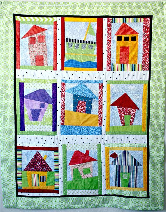 Quilt Blanket Houses Quilt Children's Bedding