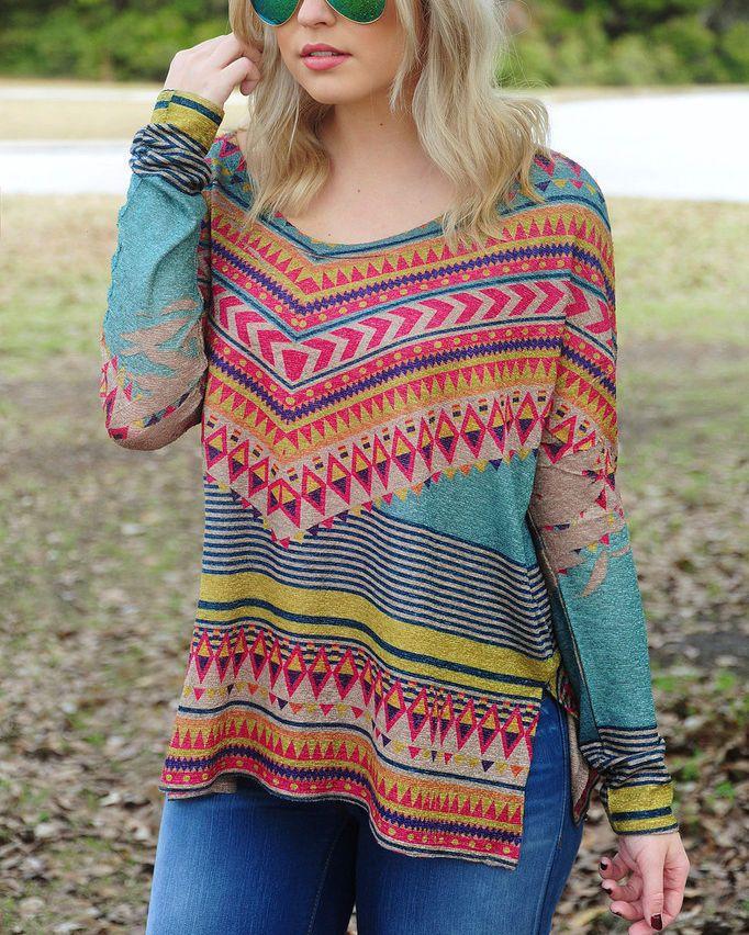 Fashion Women Floral Printed Sleeve Casual Loose T-shirt Blouse Tops Shirt XL #ClothingBucket #SweaterTop