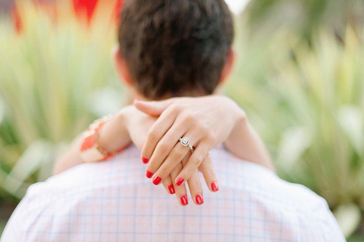 Mike Arick Photography - Engagement Photography - LACMA Urban Light - Engagement Ring