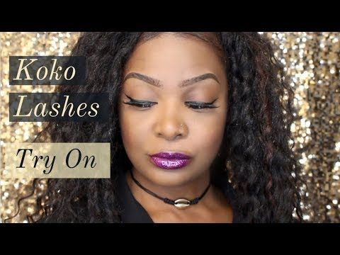 Koko Lashes || Try On Demo - YouTube