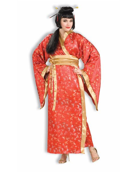 ca77b4825cf76 Adult Madame Butterfly Plus Costume When an Asian woman wears the color red  it symbolizes