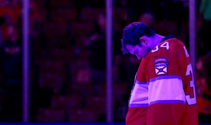SUNRISE, FL - APRIL 08: James Reimer #34 of the Florida Panthers looks on during a game against the Buffalo Sabres at BB&T Center on April 8, 2017 in Sunrise, Florida. (Photo by Mike Ehrmann/Getty Images)