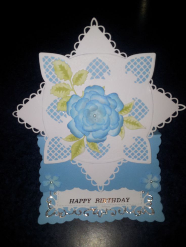 This was inspired by a Pinterest sharer for my daughter Kathryn who loves blue