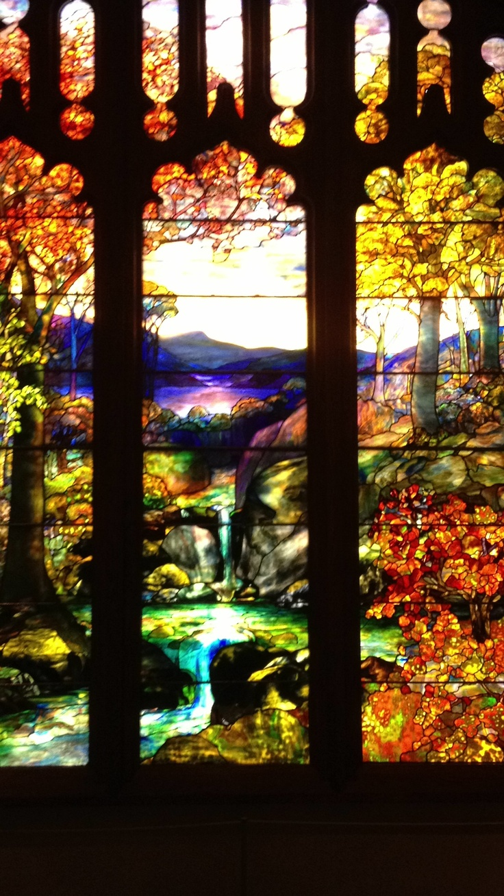 Tiffany window at the Metropolitan Museum of Art
