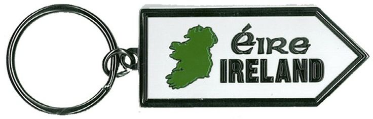 Ireland Sign Post Metal Keyring  http://paddywhackery.ie/home/keyrings/