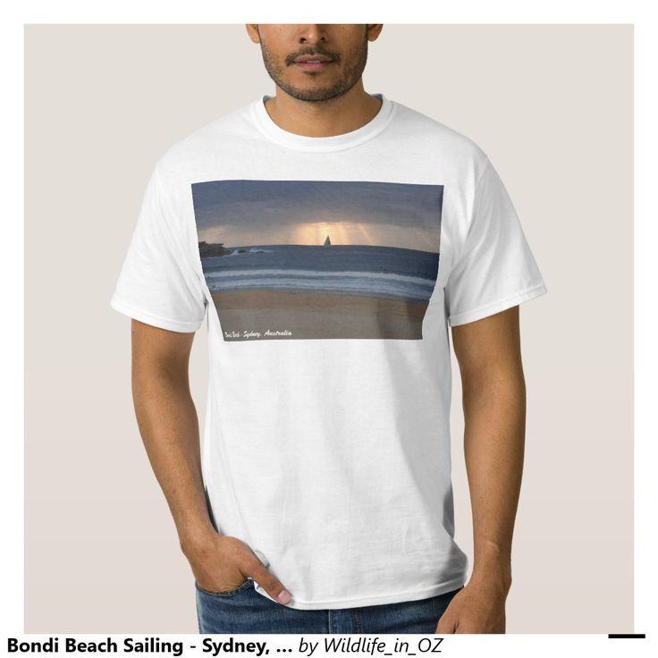 Bondi Beach Sailing - Sydney, Australia Shirt Bondi Beach Australiana - Click on photo to view item then click on item to see how to purchase that item. #bondibeach #bondi #iconicbeach #sydney #australia #surf #sunrise #sand #surf #yachting