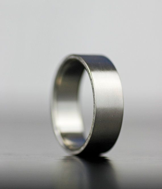 men's flat wedding band - matte finish wedding band - 3mm - 6mm 100% recycled gold or platinum - simple wedding band - eco-friendly