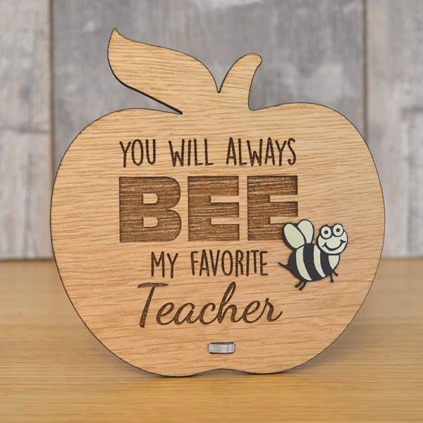 You Will Always Bee My Favourite Teacher Cute Personalised Teacher Plaque Gift - Pretty Personalised