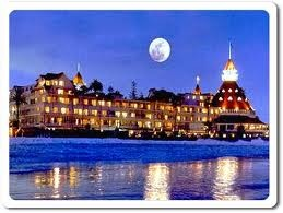 Hotel Del Coronado. Memories of eating birthday cake in the sand at midnight with a couple of Marines