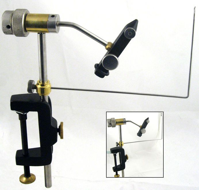 FULLY ROTATABLE FLY TYING VICE WITH  BOBBIN CRADLE #fishingmad