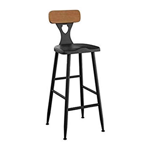 Fflsdr Bar Stool High Stool Breakfast Chair And Cushion Seat Back