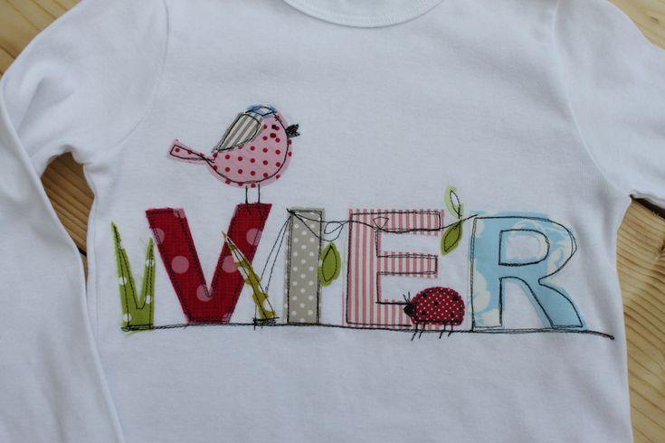 """Geburtstagsshirt+""""Vogel&Käfer""""+NEUE+Kollektion+von+Milla+Louise+auf+DaWanda.com"""