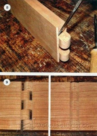 Cutting Wood Hinge Joint - Joinery Tips, Jigs and Techniques | WoodArchivist.com