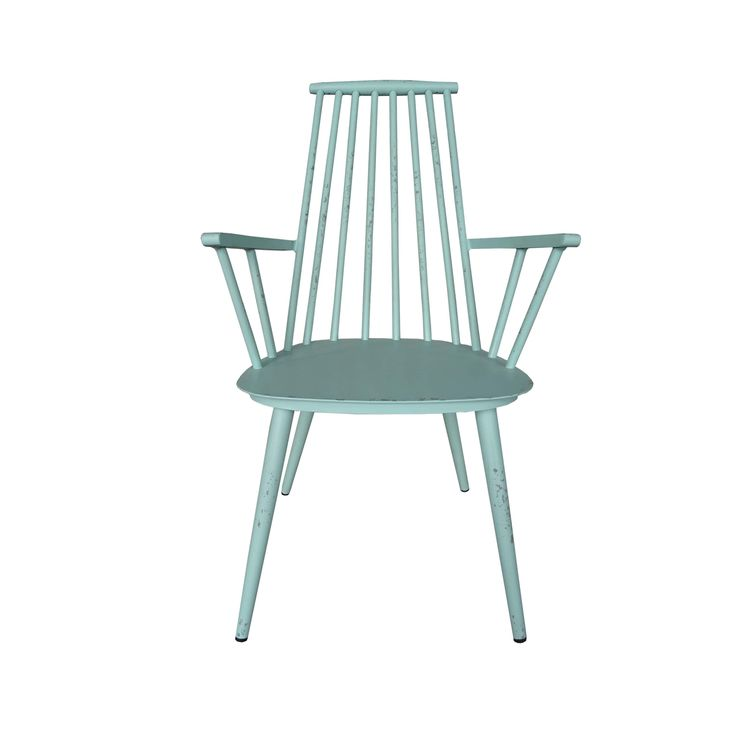 Hancock Aluminum Retro Blue Indoor/Outdoor Rustic Dining Chair (Set of 2) (Blue), Patio Furniture